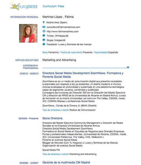 Modelo Cv Europass Ingles C 243 Mo Elaborar Nuestro Curriculum En Pdf Infograf 237 A O
