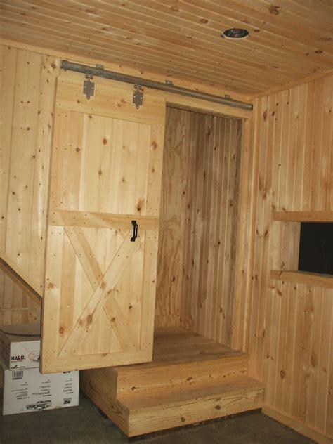 Installing A Sliding Barn Door Enclosed Stairway In Tack Room