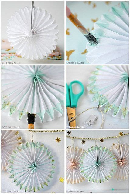 How To Make Tissue Paper Fans - 1000 ideas about paper fan decorations on