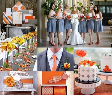 13 best images about grey and orange wedding on
