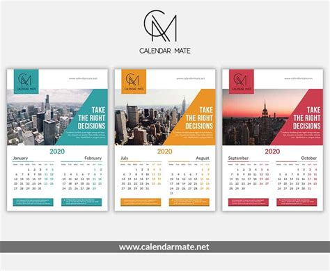 brick creative wall calendar design  template psd file kalender desain dinding
