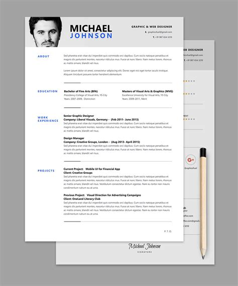 Resume Cv Template Psd 187 Cv Templates 187 Photoshop Freebie Free Photoshop Resume Templates