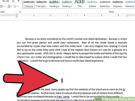testo how to how to wrap text in word 11 steps with pictures wikihow
