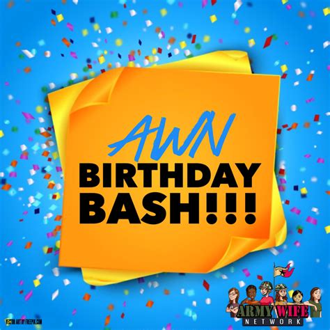 awn it awn birthday bash and huge giveaways army wife network