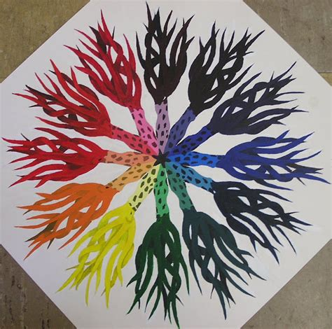 themes for colour project splatters and smudges color wheel mandalas 2008