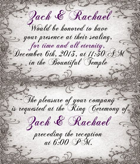 Wedding Announcement Ceremony by Wedding Announcement Ceremony Cards Lds Temple Ceremony