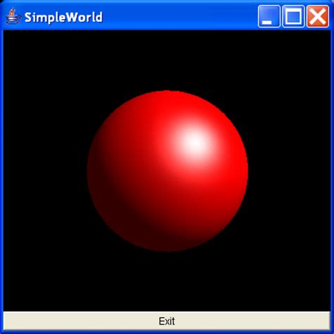 java swing 3d a red sphere using the sphere utility class sphere ball