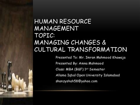Human Resource Management Notes For Mba Students by Sle Presentation Of Mba Program For Subject Hrm By