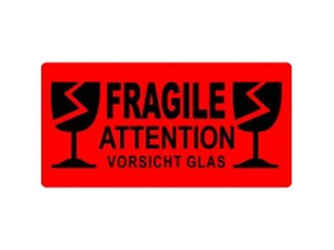 Fragile Zerbrechlich Aufkleber by Versandetiketten Fragile Vorsicht Glas