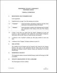 tenancy contract template rental agreement doc real estate forms