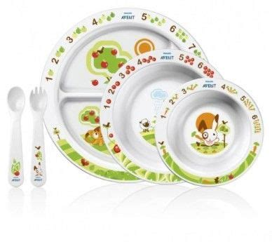 Avent Spoon And Fork avent baby mealtime set plate bowl spoon fork baby food