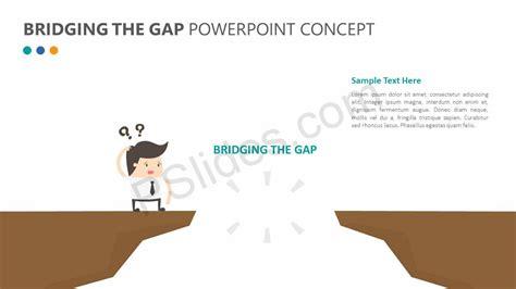 Bridging The Gap Powerpoint Concept Pslides Bridging The Gap Powerpoint Template