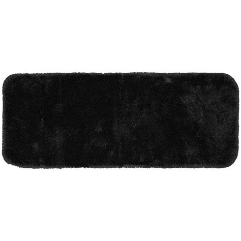 black accent rug garland rug finest luxury black 22 in x 60 in washable