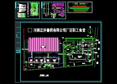 factory layout design autocad factory canteen construction workers working drawings and