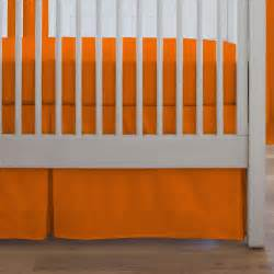 solid orange crib skirt box pleat carousel designs