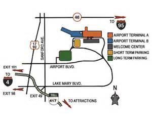 sanford airport to disney map