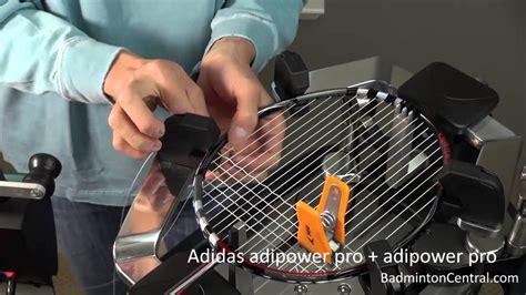 Adidas String Adipower Pro Putih badminton stringing adidas adipower pro racket