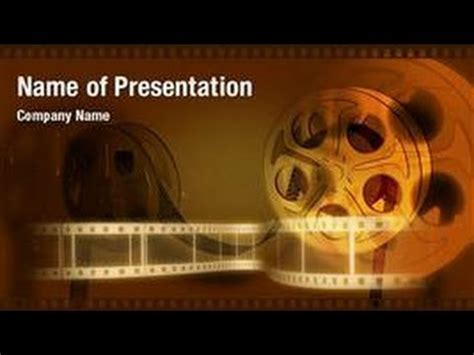movie strip powerpoint video template backgrounds