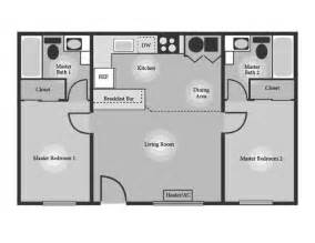 Floor Plans With 2 Master Suites House Plans With Two Master Baths Arts