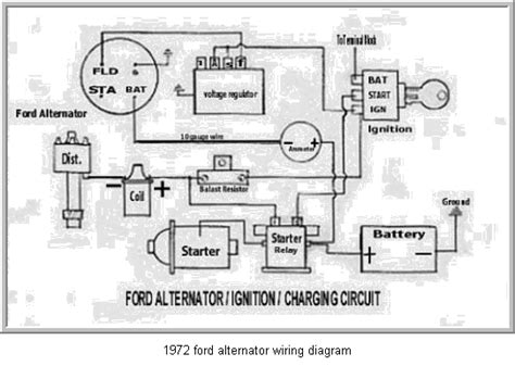 ford alternator wiring diagram regulator circuit
