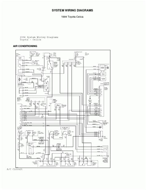 free auto wiring diagram 1994 toyota celica ac system