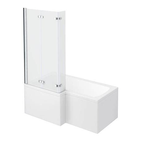1500mm l shaped shower bath milan shower bath 1500mm l shaped shower bath with screen panel
