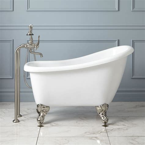 acrylic clawfoot bathtub 44 quot carter mini acrylic clawfoot tub contemporary bathtubs