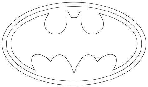 Batman Logo Coloring Page batman logo coloring pages cliparts co