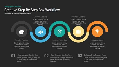 powerpoint tutorial step by step creative step by step box workflow powerpoint keynote