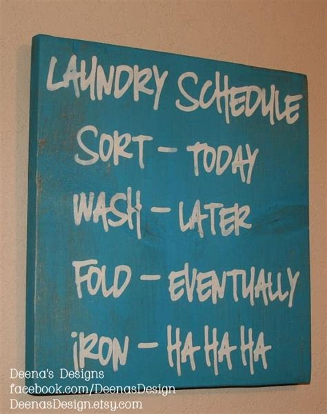 Laundry Signs Decor by Laundry Schedule Laundry Room Decor Laundry Room Sign