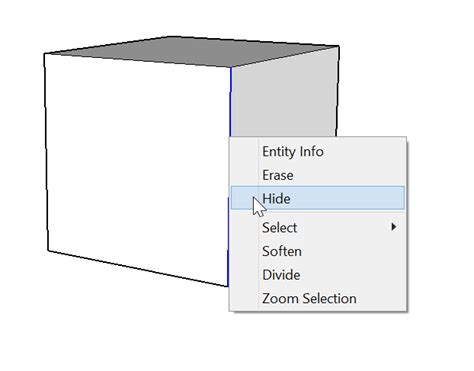 Sketchup Layout Hidden Geometry | softening smoothing and hiding geometry sketchup