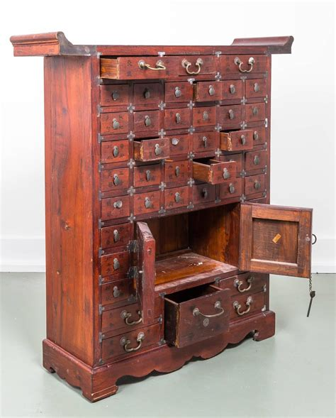 furniture classics apothecary cabinet chinese multi apothecary chest at 1stdibs