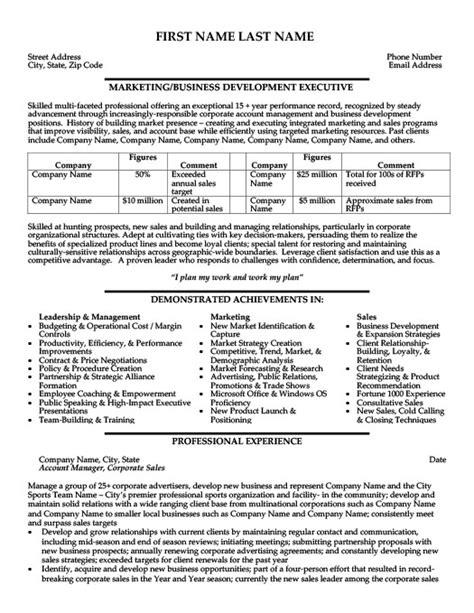 Exle Resume Business Development Executive Business Development Executive Resume Template Premium Resume Sles Exle