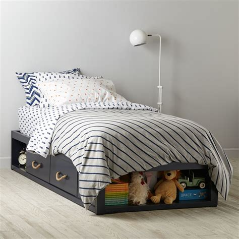 land of nod beds topside storage kids bed navy the land of nod