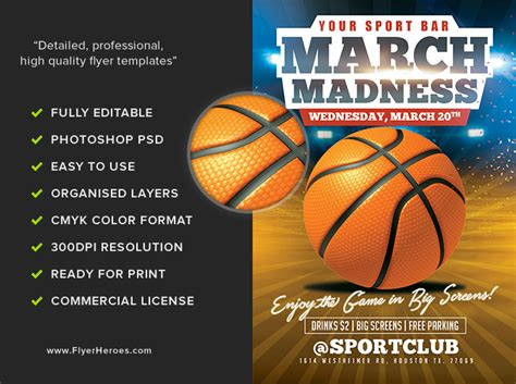 march madness flyer template design march madness poster templates