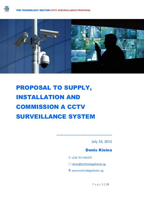 proposal  supply installation  testing  cctv camera