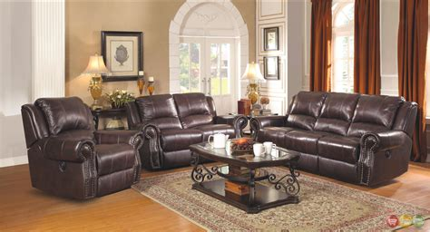 Sir Rawlinson Leather Motion Living Room Furniture Leather Power Reclining Sofa Set
