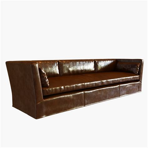 leather couch restoration restoration hardware belgian shelter arm l 3d model max