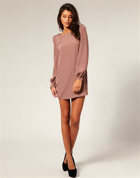 Dress Longsleeve sleeve shift dress dressed up