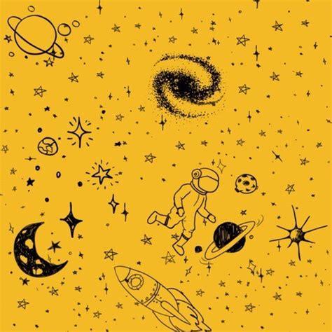 yellow pattern tumblr yellow astronaut tumblr