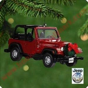 jeep ornament 2001 jeep sport wrangler hallmark ornament
