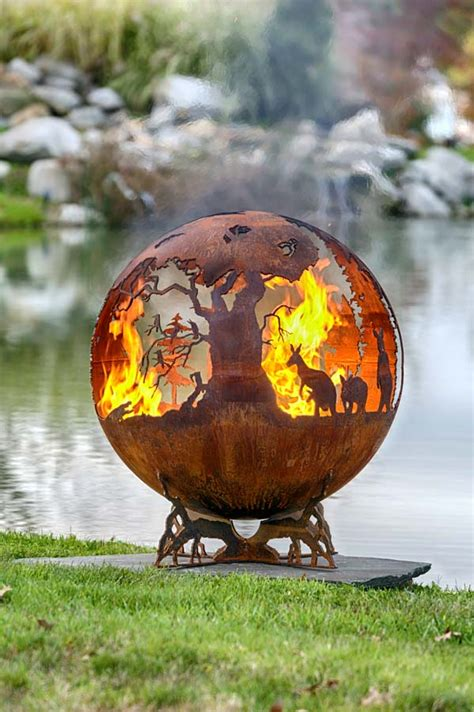 Australia Fire Pit Sphere Down Under The Fire Pit Pit Sphere