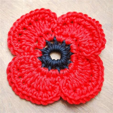 Pattern Crochet Poppy | 17 best ideas about crochet poppy pattern on pinterest
