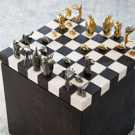 fancy chess set fancy dichotomy chess set by kelly wearstler