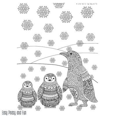 coloring pages google and penguins on pinterest
