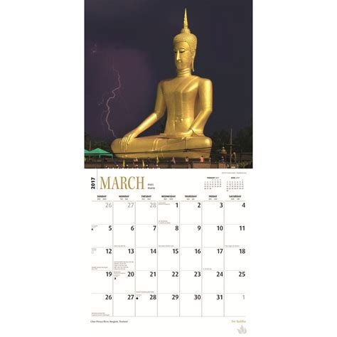the buddha 2017 wall calendar 9781465082954 calendars com