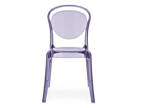 sedie calligaris trasparenti sedia impilabile in policarbonato parisienne by calligaris