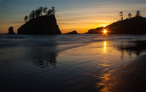 Second Hand Home Decor Online by Golden Washington Coast Evening Photograph By Mike Reid