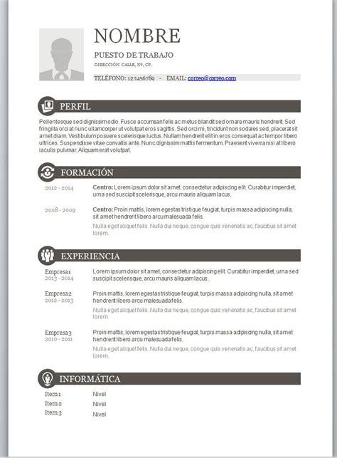 Modelo Curriculum Vitae Experiencia Argentina plantilla cv basico experiencia