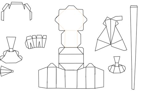 Papercraft Base - the gallery for gt blank papercraft templates